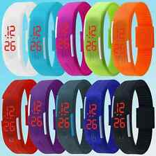 Mens Womens Sports Digital Silicone Rubber LED Bracelet Wrist Watch NOW ON SALE!