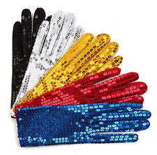 Man Women Sequins Dance Gloves Performance Gloves Bling bling Party Stage Gloves