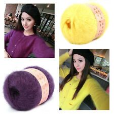 1 Ball Natural Smooth Angola Mohair Cashmere Wool Yarn Skein High Quality 50g ES