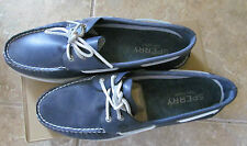 Sperry Top Sider A/O 2 eye WHite Cap navy Boat shoes NWB