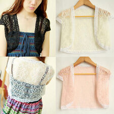 Boho Open Mini vest Crochet Crop Shrug Bolero Jacket Shrug Cropped Cardigan Top