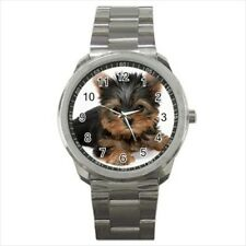 Cute Yorkshire Terrier Stainless Steel Watches - Puppy Dog