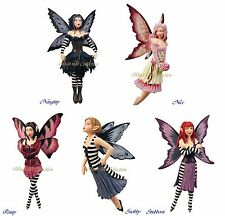 "Amy Brown ""Attitude Divas"" Series Fairy Figurine Ornament Set of 5"
