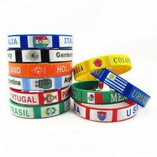 France Germany Barcelona Real Madrid Bangle Bracelet Wristband with Embroidery