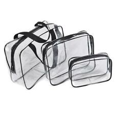 3-in-1 PVC Clear Makeup Cosmetic Bag Toiletry Organizer Handbags