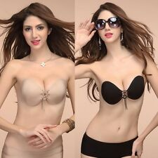 Stylish Silicone Self Adhesive Push Up Invisible Bra Strapless Backless A-D Cup