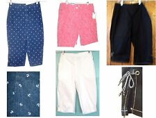 Sz XS-14 - NWT$30-$38 Croft & Barrow Denim Capri Pants & Long Shorts