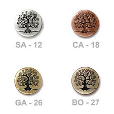 TierraCast Tree of Life Button - plated pewter - choose from 4 colors