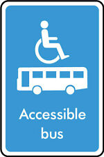 Accessible Bus Sign, Stickers, Plastic, Various Sizes