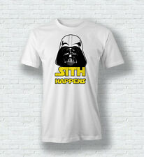 Star Wars Darth Vader Sith Happens Funny Quote T Shirt For Men Woman Kids