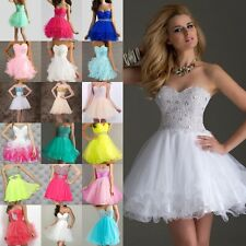 New Beaded Short/Mini Cocktail Party Bridesmaid Ball Evening Prom Dresses 6-16