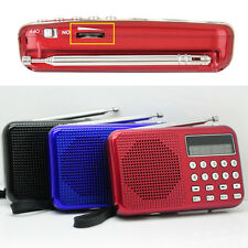 Rechargeable Portable Digital MP3 Radio Speaker FM USB TF Digital Voice Recorder