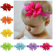 Lowest price Baby's Grosgrain Ribbon Bow Hairband Soft Elastic Headband Hair