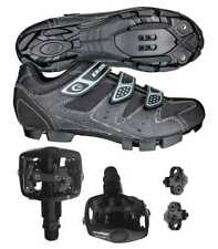 EXUSTAR E-SM324 SPD MTB Bike Bicycle Shoes Wellgo WPD-823 Pedals & Cleats