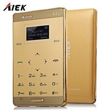AIEK M3 1.0 inch Quad Band Card Phone Bluetooth 3.0 FM Audio Player IAU