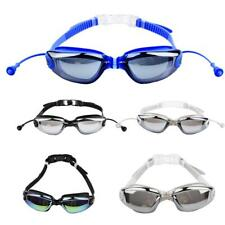 Unisex Electroplating Silicone Waterproof Anti-fog Ski Swimming Glasses Goggles