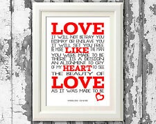 Mumford and Sons Sigh No More Song Lyric Poster Typography Print Lyric Wall Art