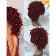 Womens Bob Style Short Curly Wavy  Capless Cosplay Wig Synthetic Hair Party Wigs