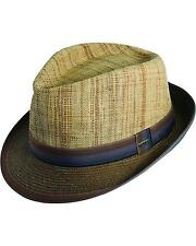 Scala Men's Raffia And Paper Braid Fedora Hat - MS192-BRN