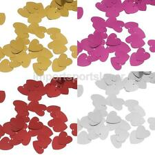Sparkle Metallic Heart Wedding Party Table Confetti Decor Sprinkles Scatters