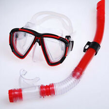 Half Dry Diving Equipment Anti Fog Snorkel Mask Goggles with Lower Purge Valve