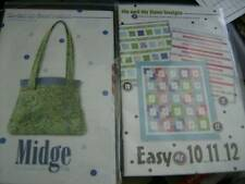 Me  And My Sister Quilt Sewing PATTERN Your Choice- Midge Bag OR Easy As 10...11