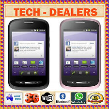 VODAFONE/OPTUS/TPG/AMAYSIM/TELSTRA/BOOST ZTE T760 BLACK/PINK+3G WIFI ANDROID+GPS