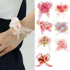 Bride Bridesmade Wrist Corsage Bracelet Flower Wedding Prom Party Quinceanera