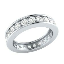 1.61 ct Real Certified Diamond Full Eternity Solid Gold Wedding Band Ring Size 7