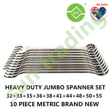 Heavy Duty Jumbo Combination Spanner 10pcs set,email ur postcode 4 postage quote