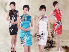 Fashion Chinese women's mini dress evening dress Cheongsam size S-M-L-XL-XXL