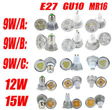 New Bright MR16/GU10/E27 CREE LED SpotLIGHT down light lamp bulb 6W/9W/12W/15W