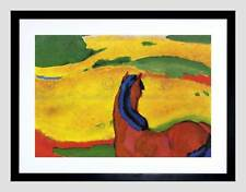 FRANZ MARC HORSE IN A LANDSCAPE 1910 OLD MASTER FRAMED ART PRINT MOUNT B12X2898