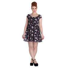 Hell Bunny Kitty Blossom Black Dress - Ladies Frock - Womens Alternative Dress