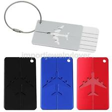 Aluminium Holiday Travel Luggage Tag Suitcase Address Name Label Card Holder