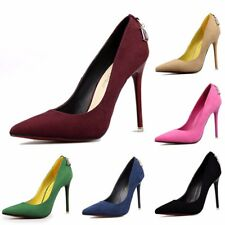 Hot Style Popular Chic Womens Suede High Heels Pumps Pointed Toe Shoes Stilettos