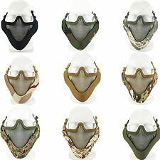 Airsoft Tactical Paintball Metal Mesh Half Face Mask Guard Protective Gear Game