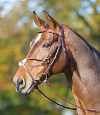 Shires Adelfia Rolled Leather Mexican Bridle