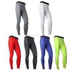 Men COMPRESSION Base Layer Trousers Long Pants Tight Under Skin Sports Bottom