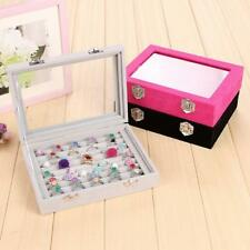 8 Grid Ring Brooch Earring Stud Jewelry Box Storage Organizer Container