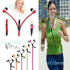 Hot Sale 3.5 mm In-ear Zip Stereo Hands-free Headphone Earphone Earbud + Mic PAT