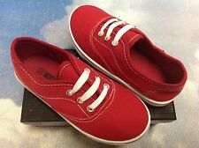 Montana Unisex Red Canvas Lace Up Sneaker Toddler Size 5 to Youth Size 4