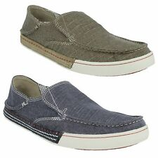 SLATEN FREE MENS CLARKS LIGHTWEIGHT MULE CANVAS SLIP ON CASUAL SHOES TRAINERS