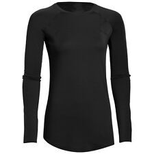 Womens Compression Long Sleeve Solid Running Gym Sports Athletic Shirt Top M-XL