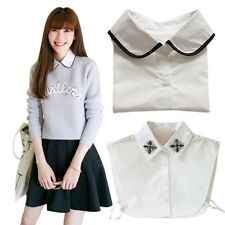 Women Ladies Peter Pan Detachable Lapel Shirt Fake False Collar Choker Necklace