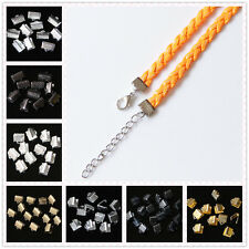 Lots 50Pcs Nice Metal claw clasp Fold Over Crimp Cord End Beads Finding 6/8/10mm