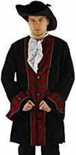 Gothic Middle Ages LARP Theatre Pirate Aristocrat Velvet Coat Frock-coat Costume