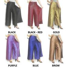 New Womens Silk Wrap Pants/Palazzo Hippie Sarong Wide Leg Flared Trousers  Ladie