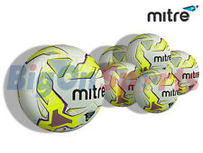 5 x  NEW 2015 MITRE MAGMA WHT/YLW/PUR  WHT/BLK/RD TRAINING FOOTBALL - SIZE 3,4,5