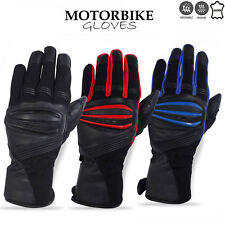 Motorbike Gloves Cowhide Leather Palm Padded Motorcycle Summer Gloves